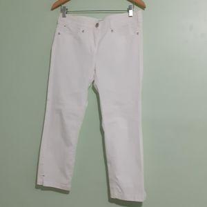 "Luxury- LUISA CERANO Flawless White PANT 10"""
